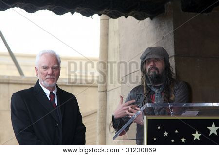 LOS ANGELES - MAR 16:  Malcolm McDowell, Rob Zombie  at the Malcolm McDowell Walk of Fame Star Ceremony for The Muppets at the Hollywood Boulevard on March 16, 2012 in Los Angeles, CA