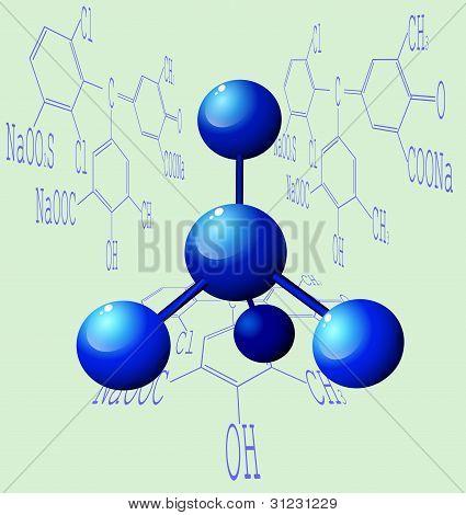 3d molecule.
