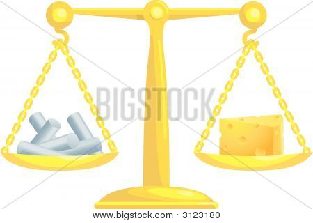 Balancing Or Comparing Chalk With Cheese