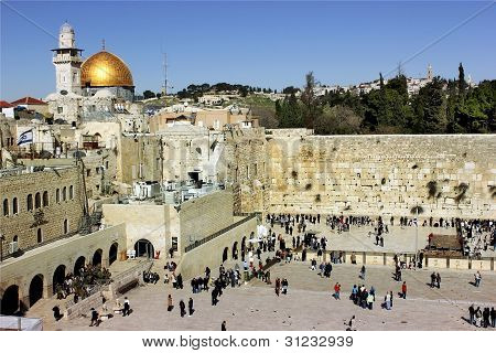 The Wailing Western Wall In Jerusalem