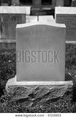 Blank Tombstone
