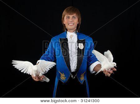 Prestidigitator With White Pigeon.