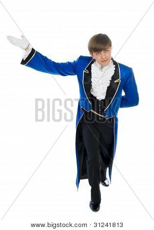 Actor In Blue Tail-coat.