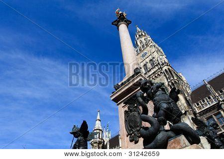 Dragão matando ângulo, Munique, Munique Alemanha