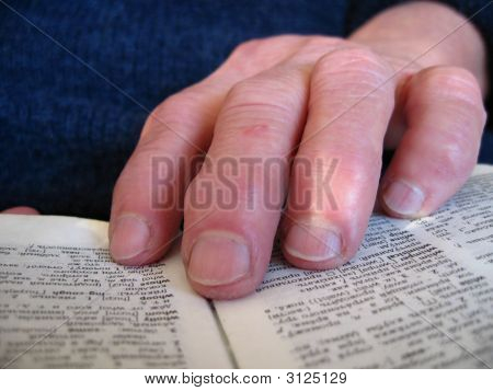 Woman Reading Text