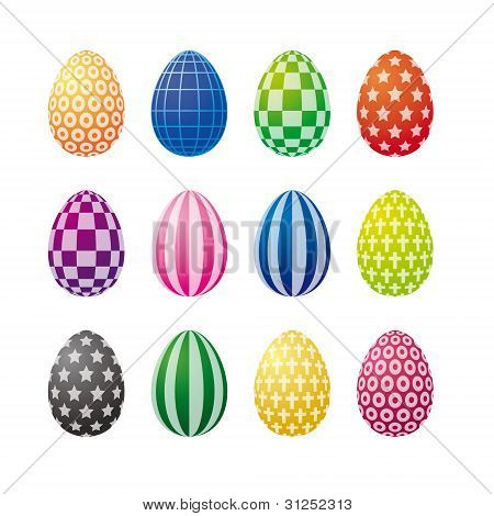 Op Art Easter Eggs