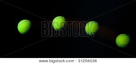 Stroboscope Of Tennis Ball.
