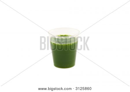 Wheat Grass Drink Isolated On White Background