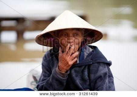 Elderly Vietnamese man in Hoi An, Vietnam