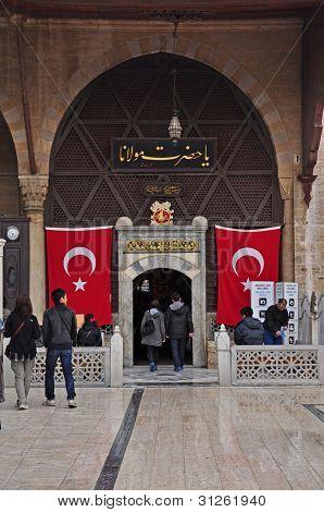 Konya Turkey October 29: Entrance To Rumi's Mausoleum on October 29, 2010 in Konya Turkey