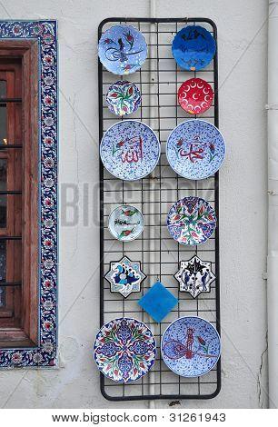 Konya Turkey October 29: Ceramic Plateware of Region on October 29, 2010 in Konya Turkey