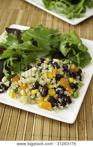 Quinoa Salad With Field Greens