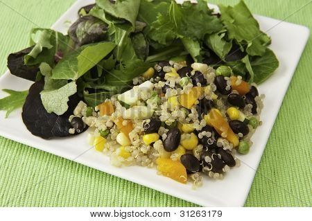 Quinoa Vegetable Salad With Field Greens