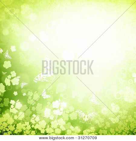 Spring Or Summer Green Grunge Background
