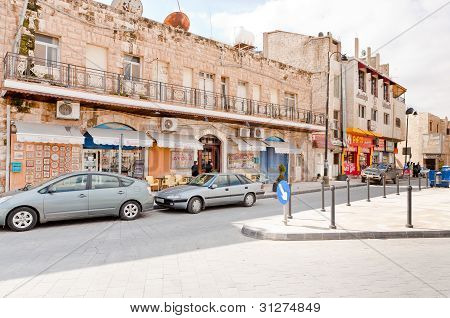 Street In Town Madaba, Jordan