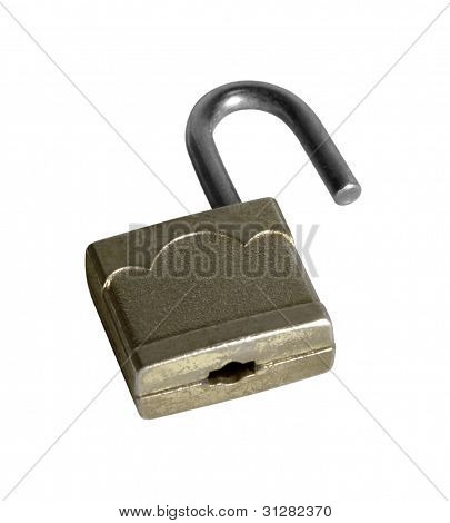 Open Small Padlock Reclined
