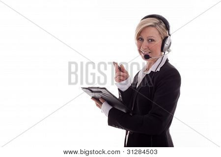 Businesswoman With Headset 2