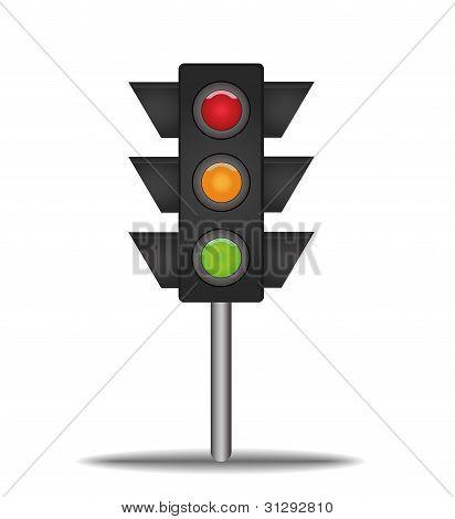 Sinal do semáforo