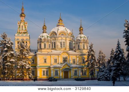 Assumption Cathedral In Kazakhstan, Almaty (Series Landmarks And Church)