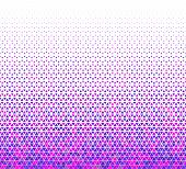 Seamless Geometric Triangles Pattern Vector.blue And Pink Colors Triangles On White Background.middl poster