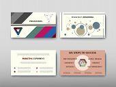 Poster Infographics Information Business Modern Design Set Proposal Advert poster