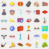 World Tourism Icons Set. Cartoon Style Of 36 World Tourism Icons For Web For Any Design poster