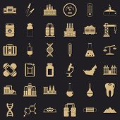 Chemical Factory Icons Set. Simple Style Of 36 Chemical Factory Icons For Web For Any Design poster