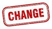 Change Stamp. Change Square Grunge Sign. Change poster