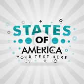 Green Logo For States Of America. For Food Cover App, Booking Restaurant, Food Websites, Recipe Food poster