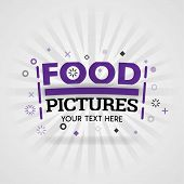 Purple Logo For Food Pictures. For Food Cover App, Booking Restaurant, Food Websites, Recipe Food, F poster