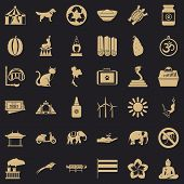 Clever Elephant Icons Set. Simple Style Of 36 Clever Elephant Icons For Web For Any Design poster