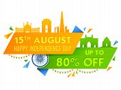 Illustration Of Famous Indian Monument And Landmark For 15th August Happy Independence Day Of India  poster