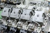 picture of internal combustion  - an old four cycle internal combustion engine - JPG