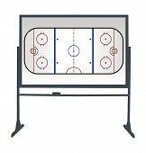 stock photo of ice hockey goal  - Illustration of a hockey board for tactical consideration - JPG