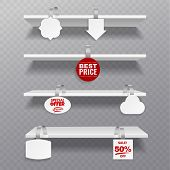 Wobbler Shelves. Retail Rack Bibliotheque Shelf Box Blank Shelves With Advertising Priced Hanging Cl poster
