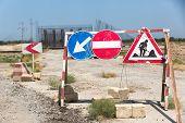 Road Under Construction. Road Sign. Road Repair Sign poster