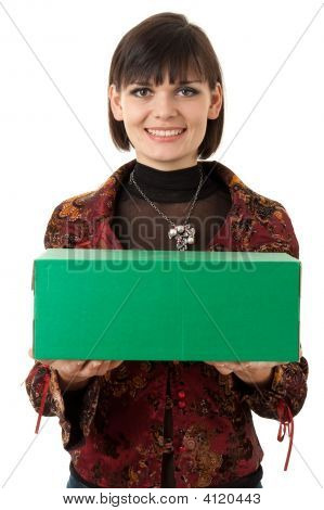Woman With Green Box