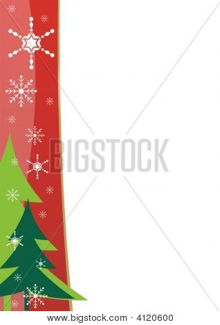 Christmas Border Template Red