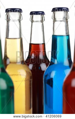 Colorful Bottles With Soda
