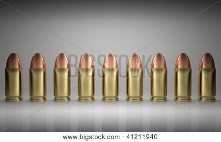 Bullets Line Up