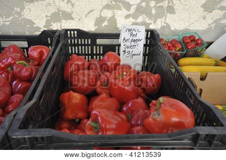 Red Organic Peppers for Sale