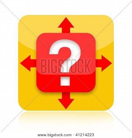 Decision crossroad icon