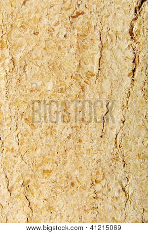 Wood sawdust briquettes texture , isolated on white