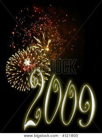 Fondo de fuegos artificiales - año nuevo 2009