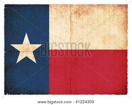Grunge Flag Of Texas (usa)