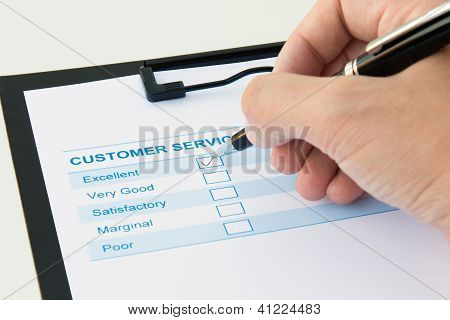 Customer Evaluation Form