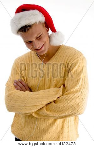 Cool Man With Christmas Hat