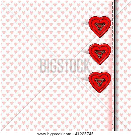 Heart Bottons, Valentine's Day, Card, Scrapbook, Wallpaper