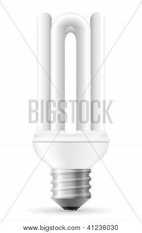 Energy Saving Light Bulb Vector Illustration