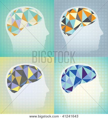Abstract Brain Synapses Set